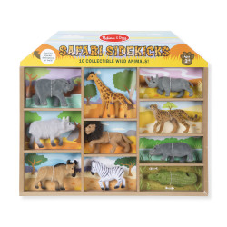 Melissa & Doug Safari Sidekicks - 10 Collectible Wild Animals