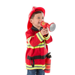 Melissa & Doug Fire Chief Role Play Costume Set, 3-6 years