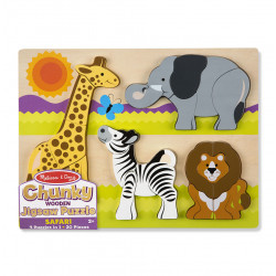 Melissa and Doug Chunky Jigsaw Puzzle - Safari