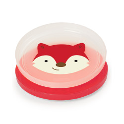 Skip Hop Baby Plate Non-Slip Smart Serve 2 Piece Rubber Grip, Fox