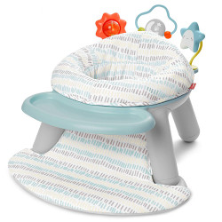 Skip Hop Silver Lining Cloud Baby Chair: 2-in-1 Sit-up Floor Seat & Infant Activity Seat