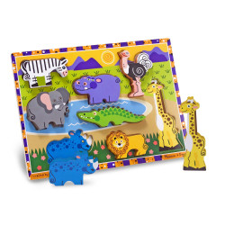Melissa and Doug Safari Chunky Puzzle