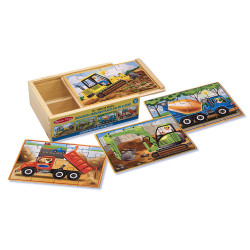 Melissa and Doug Construction Jigsaw Puzzles in a Box