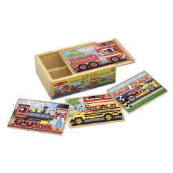 Melissa and Doug Vehicles Jigsaw Puzzles in a Box