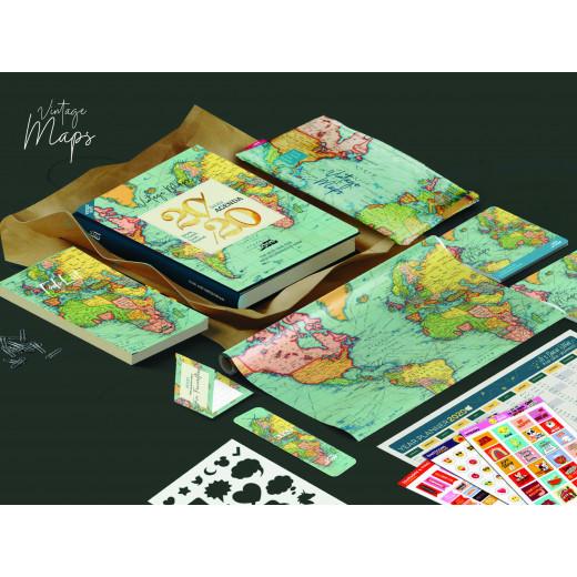 Mofakera Vintage Maps Agenda, Gift Box 2020