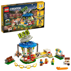 LEGO Creator 3in1 Fairground Carousel Building Kit, New 2019 (595 Pieces)