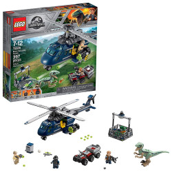 LEGO Jurassic World Blue's Helicopter Pursuit Building Kit (397 Pieces)
