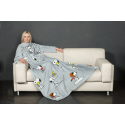 KANGURU SNOOPY Fleece Blanket With Sleeves