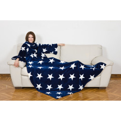 KANGURU Deluxe STARS Fleece Blanket With Sleeves