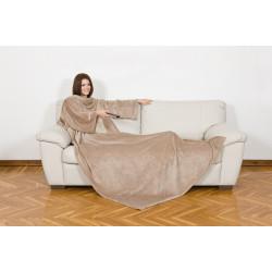 KANGURU Deluxe Cream Fleece Blanket With Sleeves