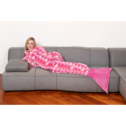 SIRENA Lilla Blanket Blanket Fleece mermaid Pink