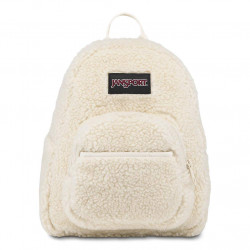 JanSport Half Pint FX Mini Backpack - Ideal Day Bag for Travel & Sightseeing | Soft Tan Sherpa