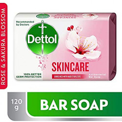 Dettol Skincare Anti-Bacterial Bar Soap 120g