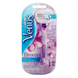 Gillette Venus Breeze Razor WIth 2 Refill Blade Cartridges