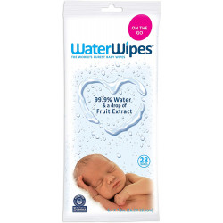 WaterWipes Sensitive Baby Wipes, 28 Count