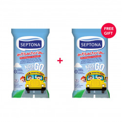 Septona Antibacterial Wet Wipes Kids On the Go (15 refreshing wipes) - White Friday Offer - Buy 1 Get 1 Free