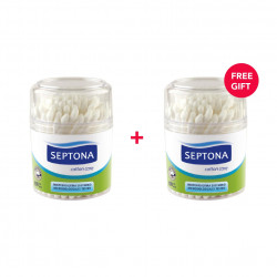 Septona 100 Cotton Buds in Plastic Jar - White Friday Offer - Buy 1 Get 1 Free