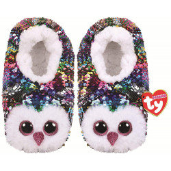 Stuffems Toy Shop Ty Flippable Fashion Slipper Socks - Owen - Size Medium (1-3)