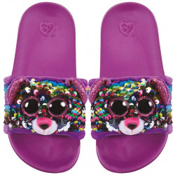 Stuffems Toy Shop Ty Flippable Fashion Slides - Dotty - Size Large (4-6)