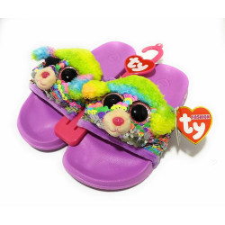 TY Rainbow Poodle - Sequin Pool Slides Medium (1-3)