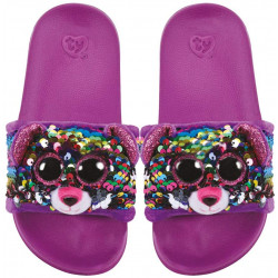 Ty Flippable Fashion Slides - Dotty - Size Small (11-13)