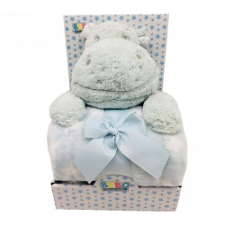 Fleece Baby Blanket (75x100 cm) with Big Toy - Color : Mint