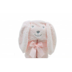Hooded Towel Blanket (75x100 cm)-Color: Pink