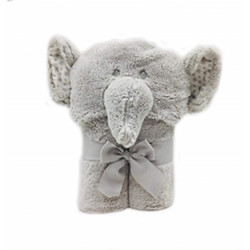 Hooded Towel Blanket (75x100 cm)-Color: Grey