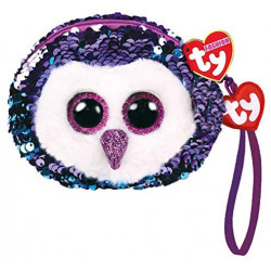 Ty Moonlight The Owl Sequin Soft Toy Purse 10 cm Multi-Coloured
