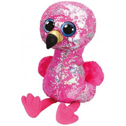 Ty Pinky Flamingo Flippable-Large, Multicolored