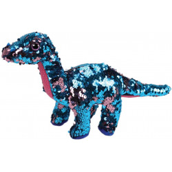 Ty Flippable Tremor The Aqua/Pink Sequin Dinosaur - 6""