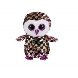 "Ty Beanie Flippables New 6"" Checks The Owl, Perfect Plush!"