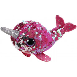 T&Y Ty Teeny Flippables Nelly - Sequin Pink Narwhal 4""