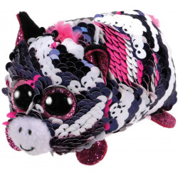 T&Y Ty Teeny Flippables Zoey - Sequin Pink Zebra 4""