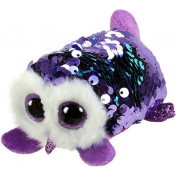 T&Y Ty Teeny Flippables Moonlight - Sequin Purple owl 4""