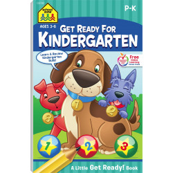 School Zone - Get Ready for Kindergarten Workbook - Ages 3 to 6