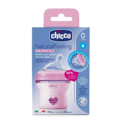 Chicco - Natural feeling 0M+ 150 ml Regular Flow - Pink