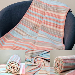 Sesli Baby Cotton Blanket - Pink (90 *120 cm)