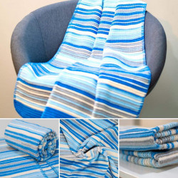 Sesli Baby Cotton Blanket - Blue (90 *120 cm)