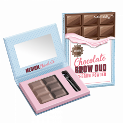Misslyn Chocolate Brow Duo Eyebrow Powder No. 4 Medium Chocolate