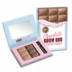 Misslyn Chocolate Brow Duo Eyebrow Powder No. 2 Light Chocolate