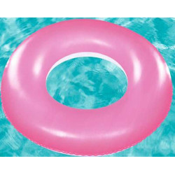 Frosted Neon Swim Ring Pink