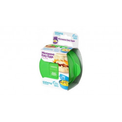Sistema To Go Microwave Egg Cooker Easy Eggs, 270 ml - Green