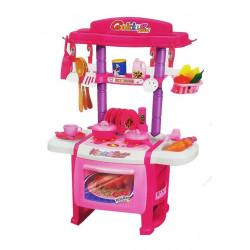 Children's Kitchen Happy Pink Girl Toy