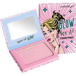 Misslyn Glow for it! Strobing powder, compact powder.6