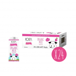 Koita Organic Strawberry Milk 200 ml X24
