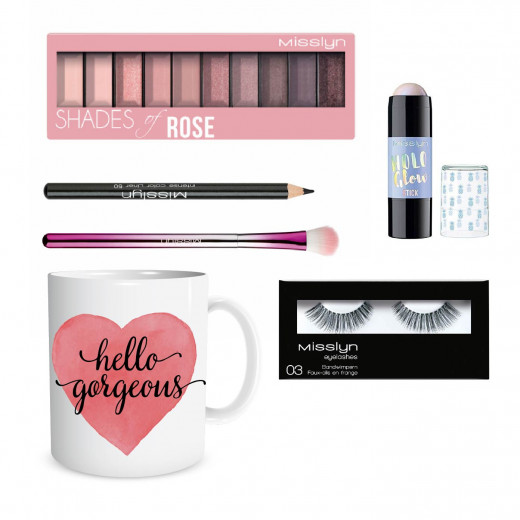 Misslyn Valentine Gift, Package Number 2 of Makeup with Beautiful Mug