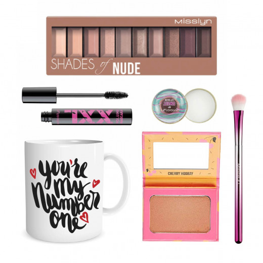 Misslyn Valentine Gift, Package Number 1 of Makeup with Beautiful Mug