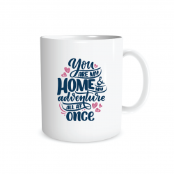 Dumyah You are my Home & my Adventure All at Once Mug