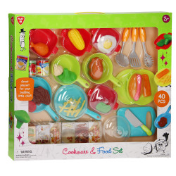 PlayGo Cookware & Food Set - 40 PCS